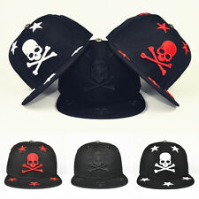 Men Women New Embroidery Bboy Skull Snapback Adjustable Baseball Cap Hip-Hop Hat