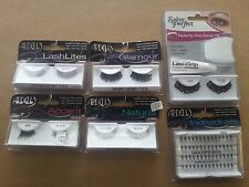 LOT OF 6 Ardell & Salon Perfect Lashes False Fake Eyelashes Black
