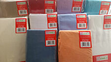 Fitted Sheets Plain Linen PolyCotton Bedding Bed Fitted Sheet Any Size 2 for £10