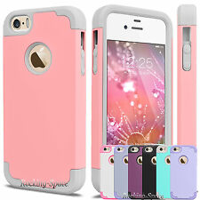 Hybrid Rugged Rubber Armor Best Impact Case Cover for Apple iPhone SE 5 5S 5G