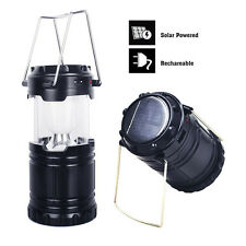 Outdoor Super Bright Solar LED Collapsible Camping Lantern Night Light Tent Lamp