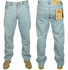 MENS NEW BASIC JEANS FORGE F101 LIGHT WASH STRAIGHT LEG ALL SIZES 30 TO 60