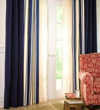 "Thermalogic™ Wide Stripe Tab-Top Insulated Window Curtains, 84""L"