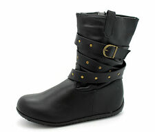Goody 2 Shoes Infant Girls Kids UK 10 & 12 Black Zip Up Brand New Boots