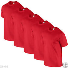 5 Mens Fruit of the Loom Plain Red Tshirt T Shirt Blank All Sizes 100% Cotton