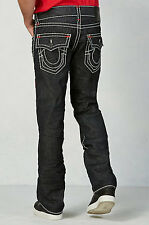 True Religion Brand Jeans Inglorious Ricky Straight Red White Super T Size 32 33