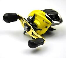 Yellow Low Profile Fishing Reel Baitcast Reel Left / Right Hand 11BB Mag Brake