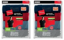 8-Pack Hanes Men's TAGLESS ComfortSoft Dyed Crewneck T-Shirts Assorted S - 2XL