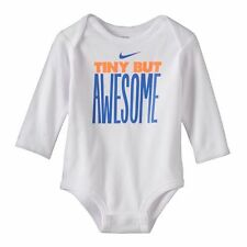 Nike Tiny But Awesome White Bodysuit One Piece Romper Baby Boys 0-3 3-6 Months