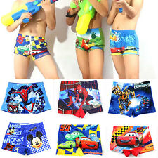 Kids Bathing Suit Boys Swim Trunks Shorts Cartoon Spiderman Swimsuit Swimwear