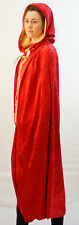 Medieval-SCA-Larp-Pagan-Cosplay-Gothic-RED GOLD LINED LARP CLOAK All Sizes