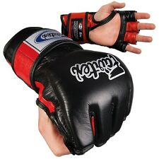 Fairtex Ultimate Combat MMA Gloves - Open Thumb - Black / Red