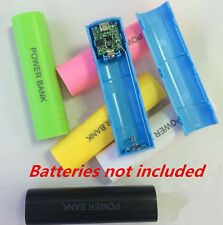 2600mAh 18650 USB Charger Bank Case Kit For All Phone DIY Battery Power Box