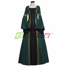 Dark Green Medieval Dress For Women Adult Renaissance Maiden Dress Gown Costume