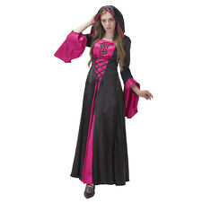 Black Purple Medieval Renaissance Dress With Hood Wedding Dress Costume Custom