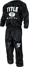 TITLE Sauna Sweat Suit MMA Gear Wrestling Equipment Boxing Workout Supplies