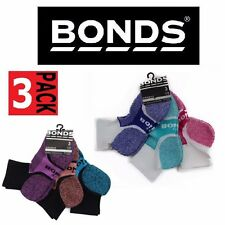 3 PACK BONDS QUARTER CREW Womens Pairs Sports Socks Black White Size Sizes 3-8
