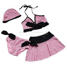Girls Swimwear Kids Bikini Swimsuit Beach Tankini 4 pcs Bathing Suits for Girls