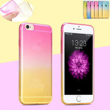 New Fashion Ultra Thin Colorful Ombre TPU Soft Clear Case Cover For Cellphone