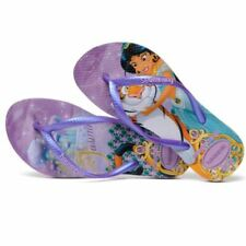 Havaianas Slim Kids Princess Jasmine Tiger Purple Rubber Flip Flops Many Sizes