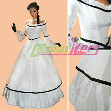 Victorian Corset Gothic Civil War Ball Gown Dress Southern Belle Dress Costume
