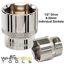 "Silverline 8-32mm 1/2"" Drive Metric Hex Sockets Individual Socket CR-V"