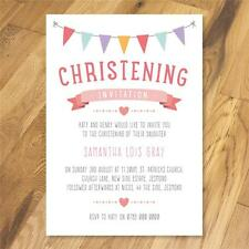Personalised Christening Naming Day Baptism Party invitations girl boy options