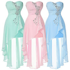 Women Summer Sexy Boho Chiffon Bridesmaid Prom Gown Evening Party Formal Dress