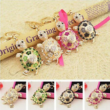 Tortoise Turtle Lovely New Crystal Pendent Charm Purse Bag Key Chain Ring Gift