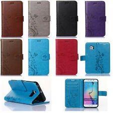 Retro Pattern PU Leather Wallet Card Stand Case Cover For Samsung Galaxy phones