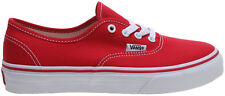 VANS KIDS AUTHENTIC RED YOUTH CASUAL SKATE SHOES SNEAKERS AUSTRALIA CLEARANCE