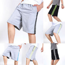 Men Summer Casual Pants Stripe Cargo Shorts Flat Front Big Tall Size Short Pants