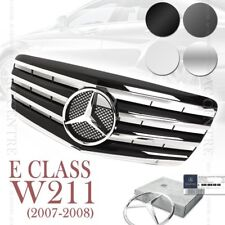 (4 Colors) Front Mesh Grille Sport AMG for Mercedes Benz E Class W211 2007-08