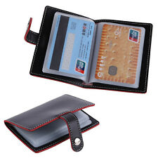 20 Slots ID Business Credit Card Holder Women Men Classic Faux Leather Case