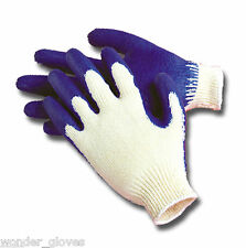 40 Prs Genuine WONDER GLOVES (LATEX) Natural Rubber Coated Hand Safety Work New