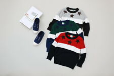 New Childrens Kids Winter Junior Jumper Knitted Sweater 3 Assorted Colors Star