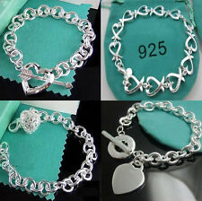Wholesale Fashion Women Men 925Silver Bracelet Silver Bangle Trendy Gift Jewelry
