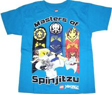 Lego Ninjago Masters of Spinjitzu Boys Short Sleeve T-Shirt NWT Sizes 7 or 14