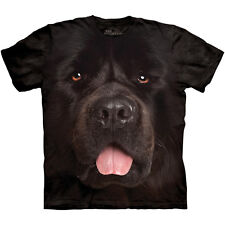 BIG FACE NEWFIE T-Shirt The Mountain Black Newfoundland Dog Head Mens S-3XL NEW
