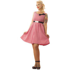 Women's Pinky Pinups Gingham Swing Dress Retro Vintage Rockabilly Pin Up