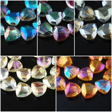 20pcs Faceted Glass Crystal Triangle Beads Spacer 18mm DIY Jewelry Making