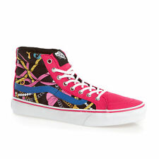 VANS SK8 HI SLIM SCARF VIRTUAL PINK TRUE WHITE WOMENS CASUAL SHOES CLEARANCE