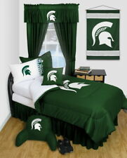 Michigan State Spartans Comforter & Pillowcase Twin Full Queen Size LR