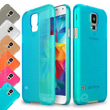 Clear Color Hard Candy Shell Dots Protective Case Cover for Samsung Galaxy S5