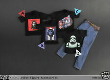 zytoys 1/6 scale che guevara/stormtrooper Tee+Jeans costume fit hot toys body
