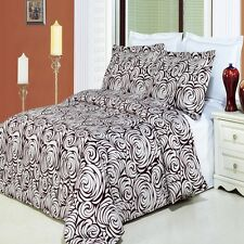 Tustin 4pc Duvet Cover Bedding Set - Egyptian Cotton Duvet AND White Comforter