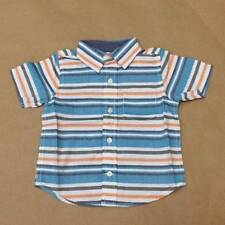NWT Gymboree Boys Short Sleeve Striped Button Shirt Size 6-12 12-18 & 18-24 M