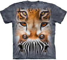The Mountain ZOO FACE TOTEM Zebra Cheetah Tiger African Animal T-Shirt S-3XL NEW
