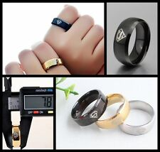 8mm Ring 316L Stainless Steel Superstar Hero Band Ring Solid Men Jewelry Silver