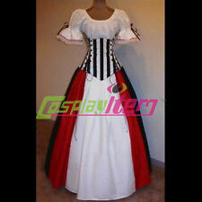 Medieval Renaissance Wench Pirate Corset Dress Halloween Cosplay Costume